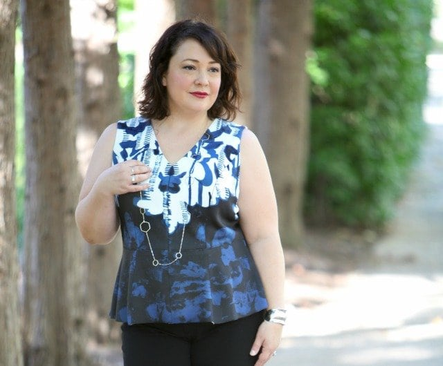 Wardrobe Oxygen featuring an Adrianna Papell top via Gwynnie Bee and a silver necklace from Stylecable