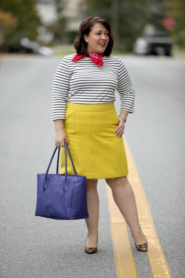 wardrobe oxygen featuring a dagne dover tote and talbots a-line skirt