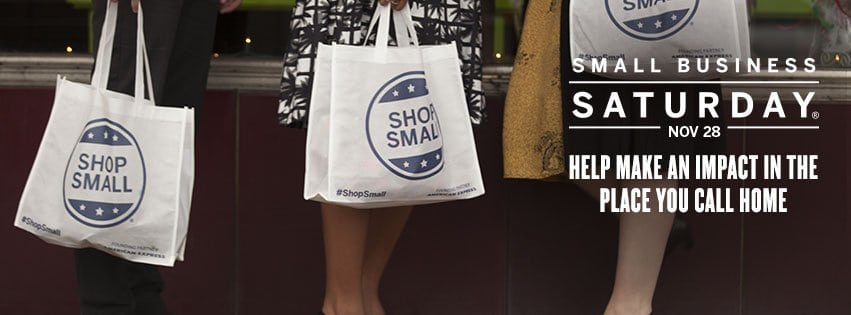 #ShopSmall the Saturday after Thanksgiving with Small Business Saturday