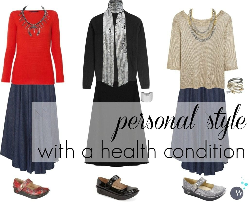 Style Tips with a Health Condition - achieving personal style when health issues require certain fashion and footwear