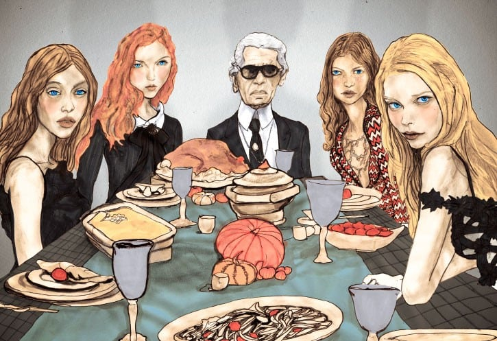 Danny Roberts Thanksgiving - Karl Lagerfeld and Models from Chanel Spring 2010