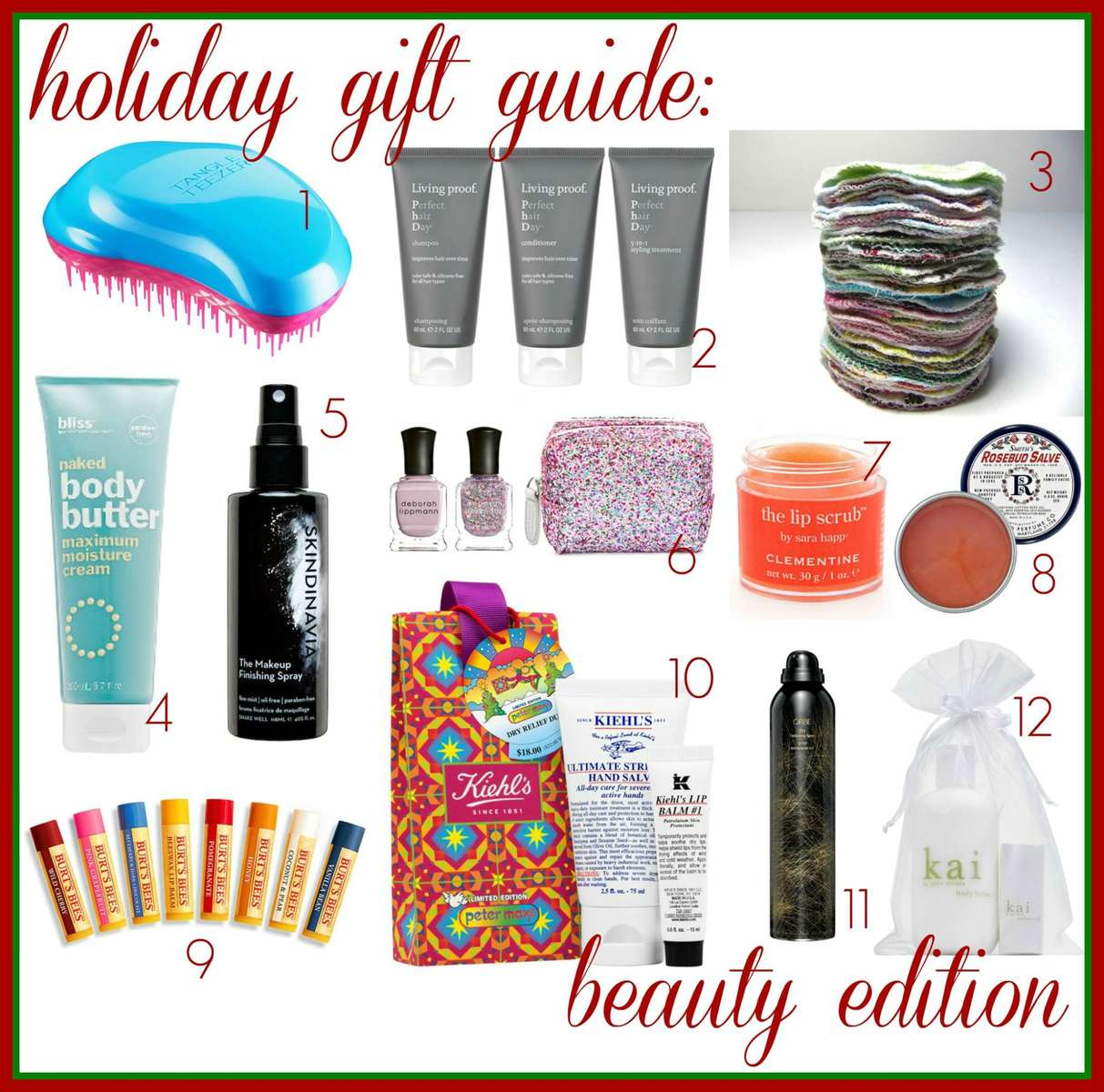 Holiday Gift Guide: Beauty Edition with products in all sorts of prices and for all types of people on your gift list