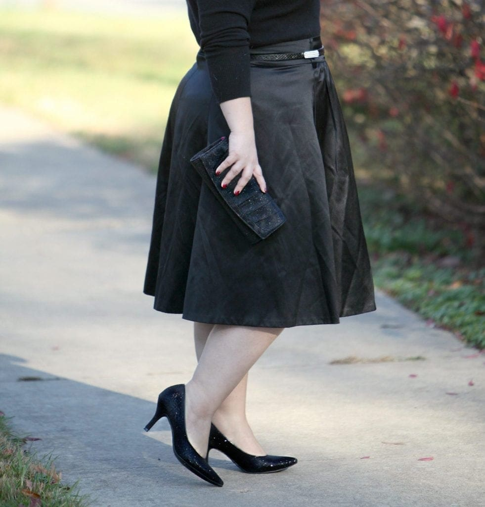 Wardrobe Oxygen featuring Payless shoes and clutch for the holidays