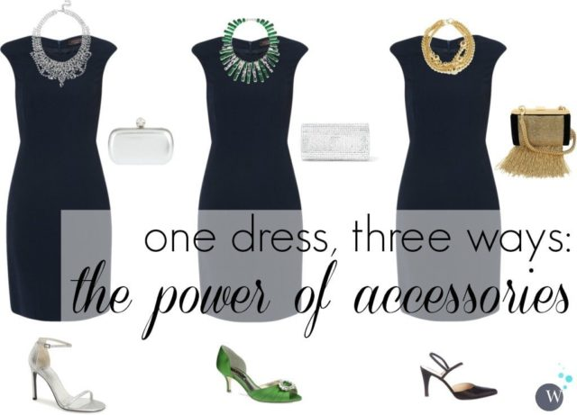 the power of accessories one dress three ways and how to extend your holiday formal wardrobe