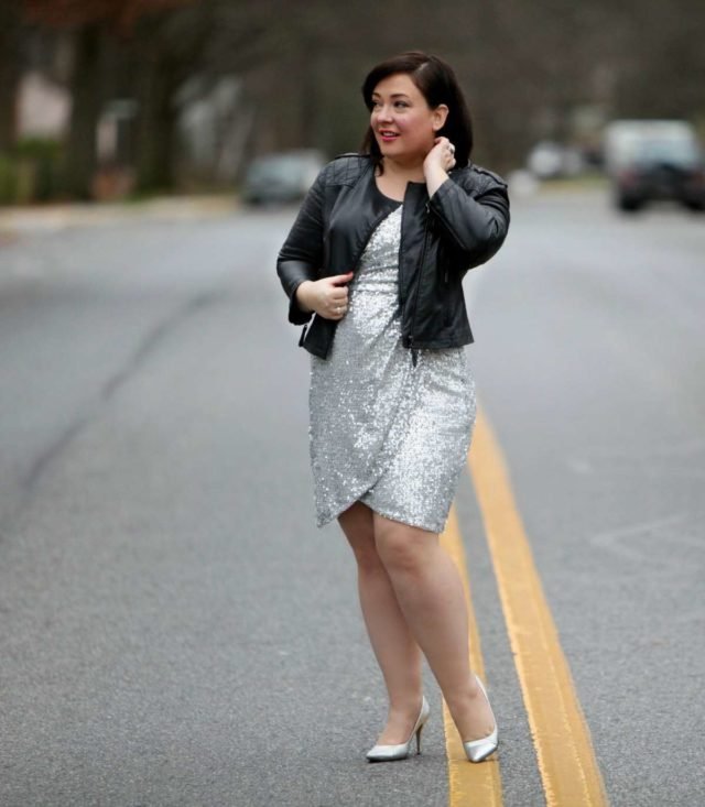 Wardrobe Oxygen, an over 40 fashion and personal style blog featuring a silver sequin cocktail dress