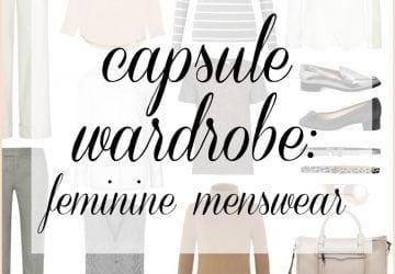 Capsule Wardrobe: Feminine Menswear