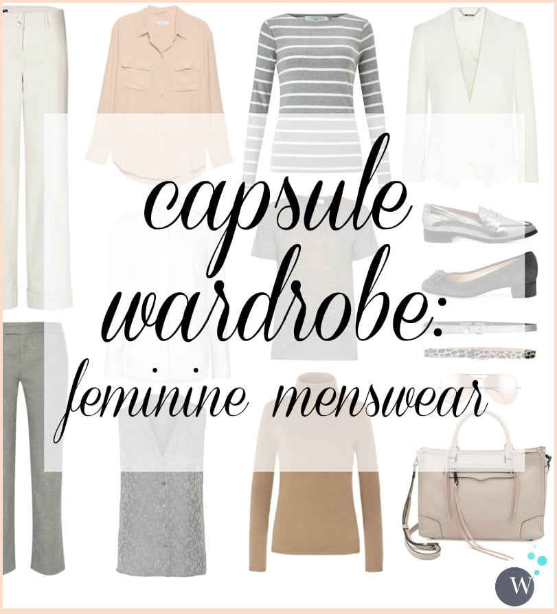 Capsule Wardrobe: Feminine Menswear. Think Diane Keaton meets Ellen DeGeneres. Business Casual and perfect for an active creative women over 40 or over 50