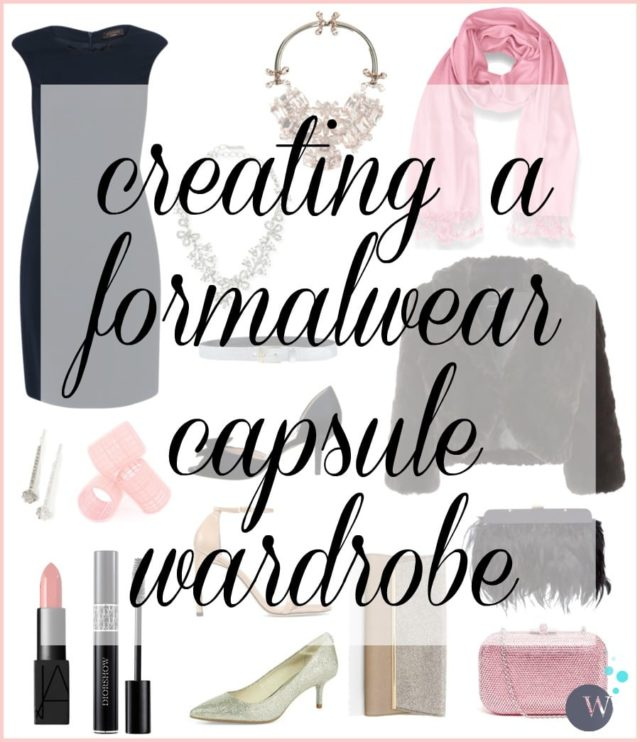 Wardrobe Oxygen: Creating a Formalwear Capsule Wardrobe. Buy less and have more style with these tips of creating a collection of pieces to be ready for any formal event.
