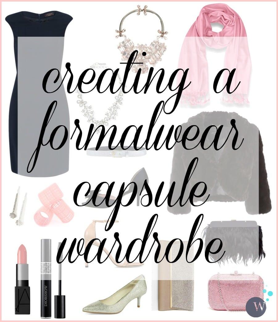 creating a formalwear capsule wardrobe. Black Bedroom Furniture Sets. Home Design Ideas