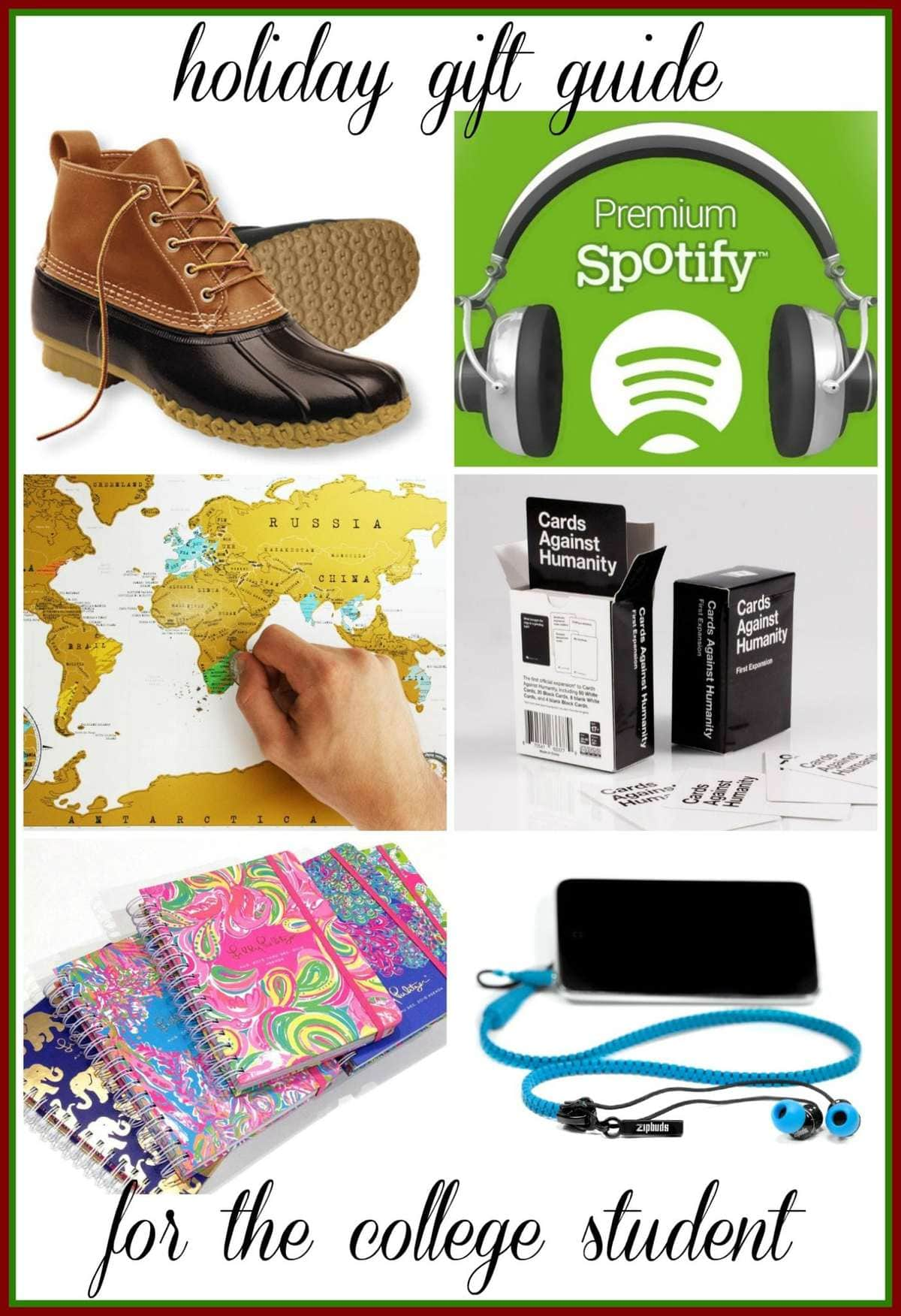 holiday gift guide for a college student