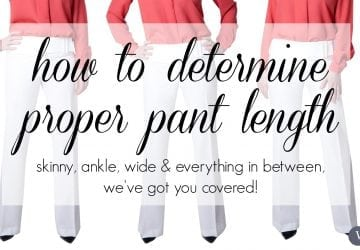 Ask Allie: The Correct Length for Every Style of Pants