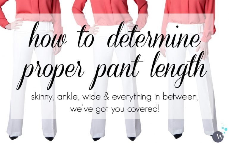 How to Determine Proper Pant Length: Tips for hemming trousers to the proper length depending on the style and the shoe. Via Wardrobe Oxygen