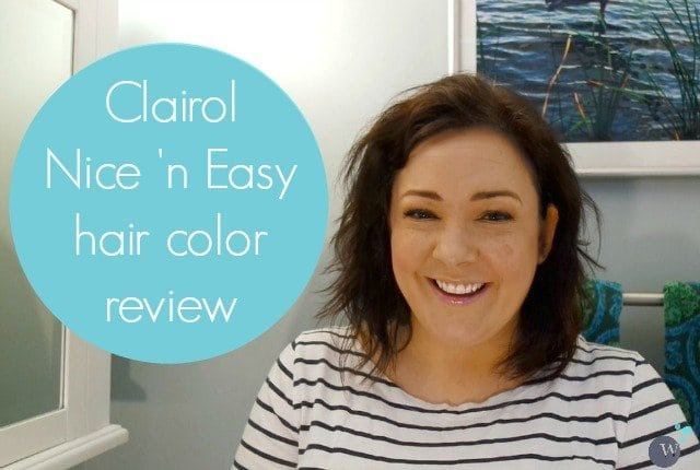 nice n easy hair color review tutorial - wardrobe oxygen