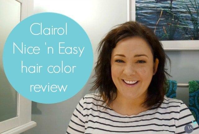 nice n easy hair color review tutorial - wardrobe oxygen