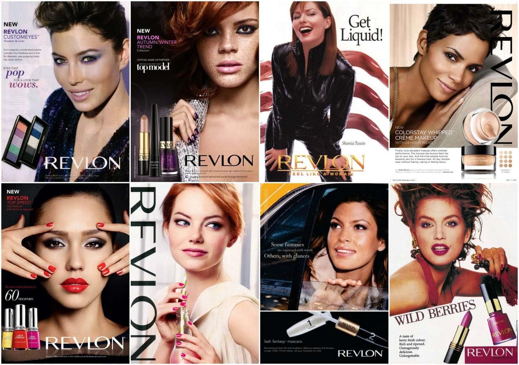 revlon magazine ads over the years