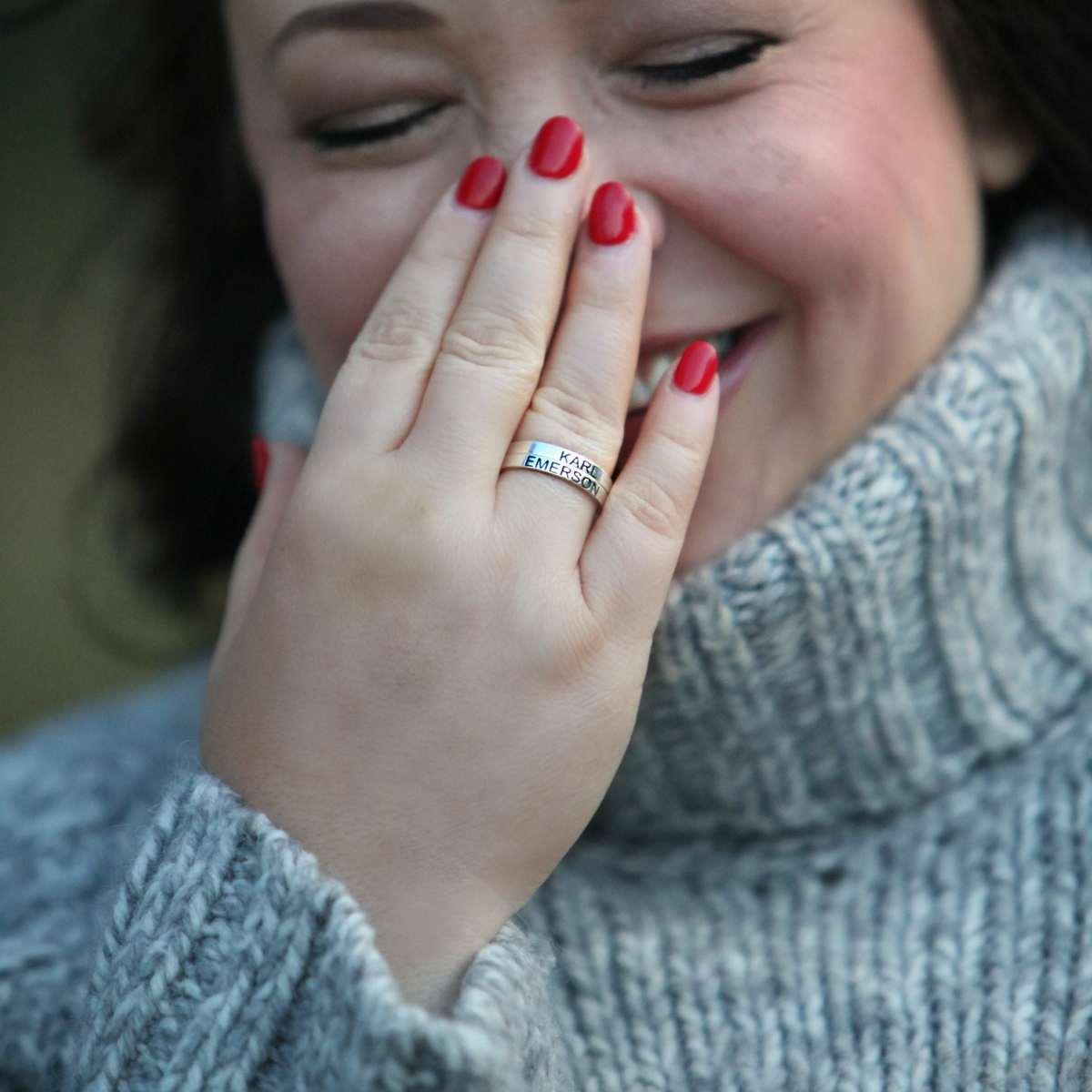 sterling silver personalized rings - wardrobe oxygen