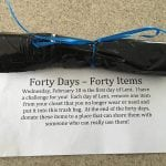 Forty Days – Forty Items: The Lent Closet Purge