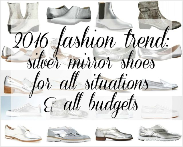 2016 fashion trend silver mirror shoes - Wardrobe Oxygen