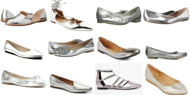 Wardrobe Oxygen - Silver Flats Trend for 2016 my picks