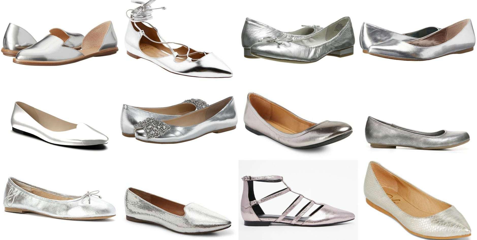 Wardrobe Oxygen - Silver Flats Trend for 2016 my picks