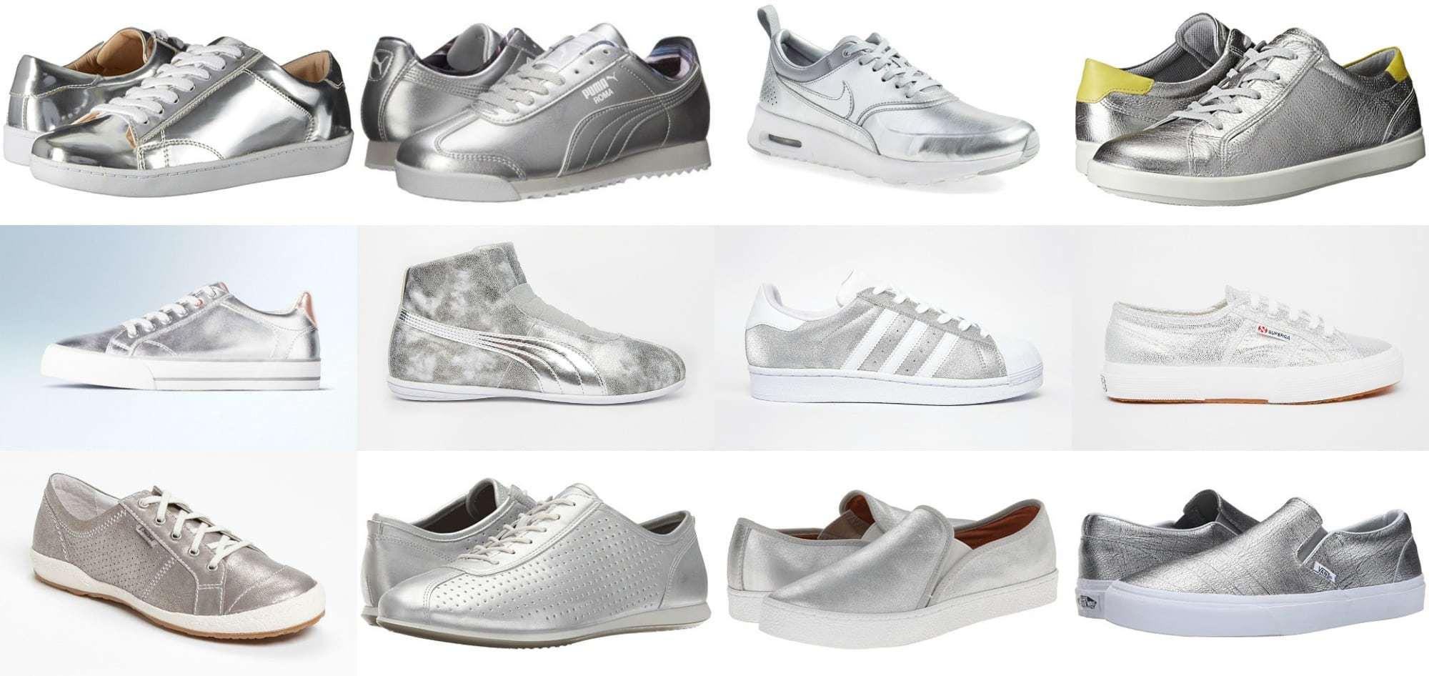 Wardrobe Oxygen - Silver Sneaker Trend for 2016 the best styles
