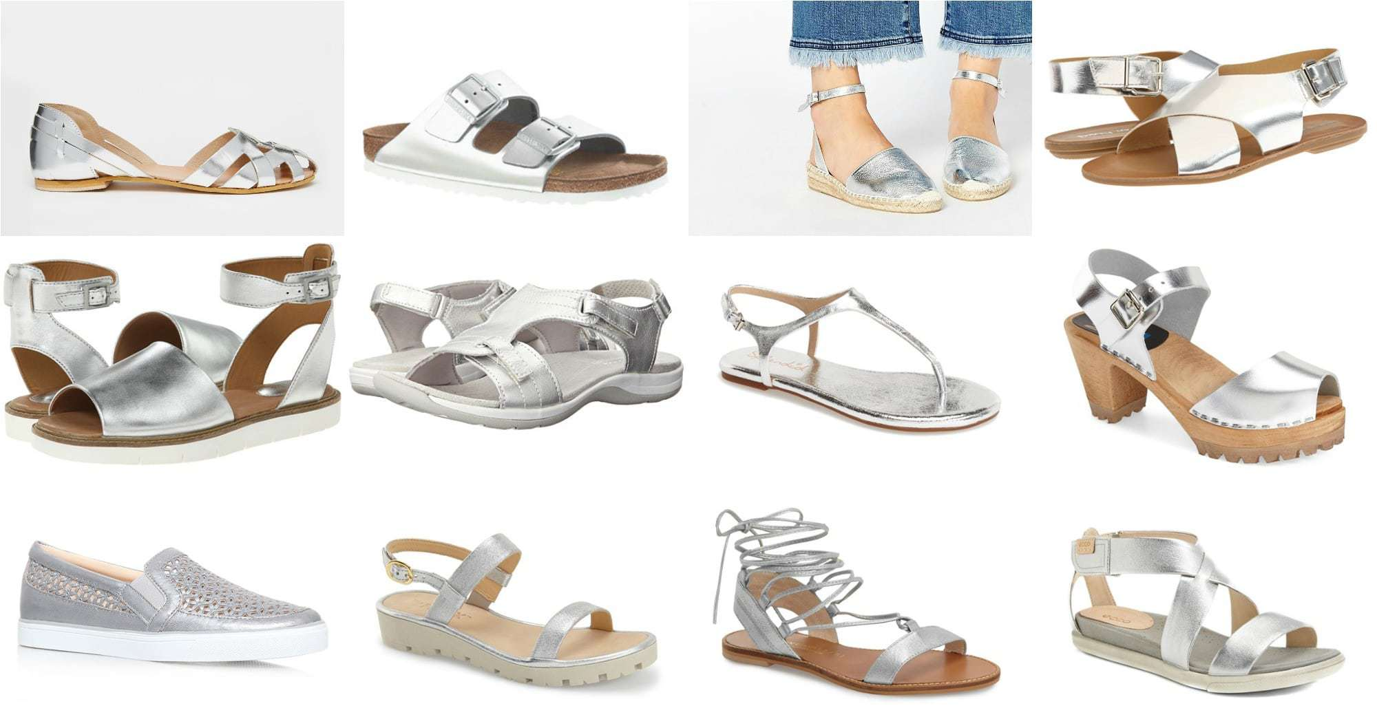 Wardrobe Oxygen - The Best silver metallic sandals and summer shoes for 2016