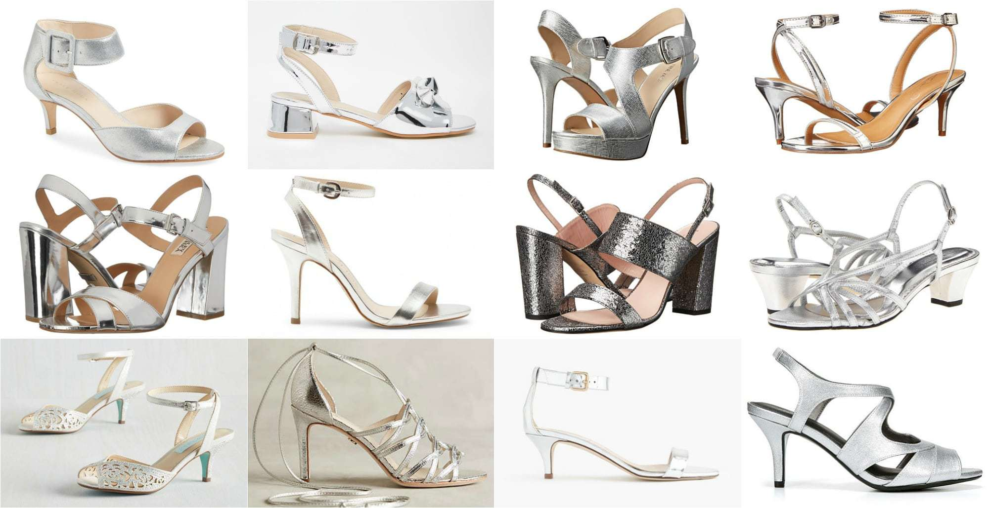 Wardrobe Oxygen - The best silver mirror strappy heels of all heights for 2016 fashion