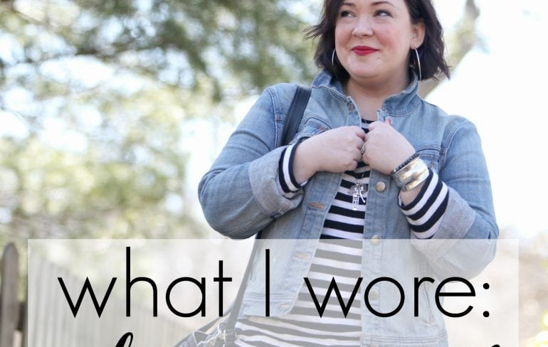 Wardrobe Oxygen What I Wore Olive Accent featuring JAG Jeans