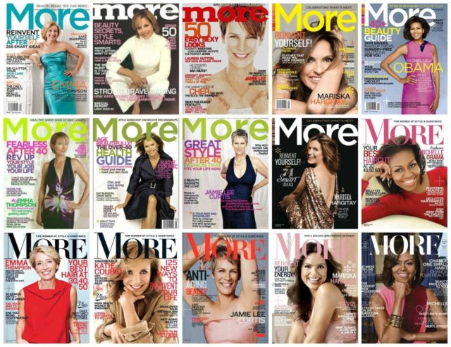 more magazine over the years