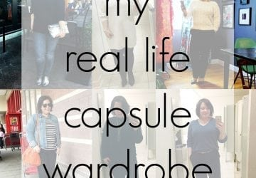 Walking the Talk: My Real Life Capsule Wardrobe