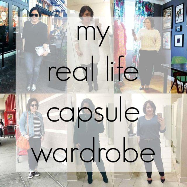 my real life capsule wardrobe