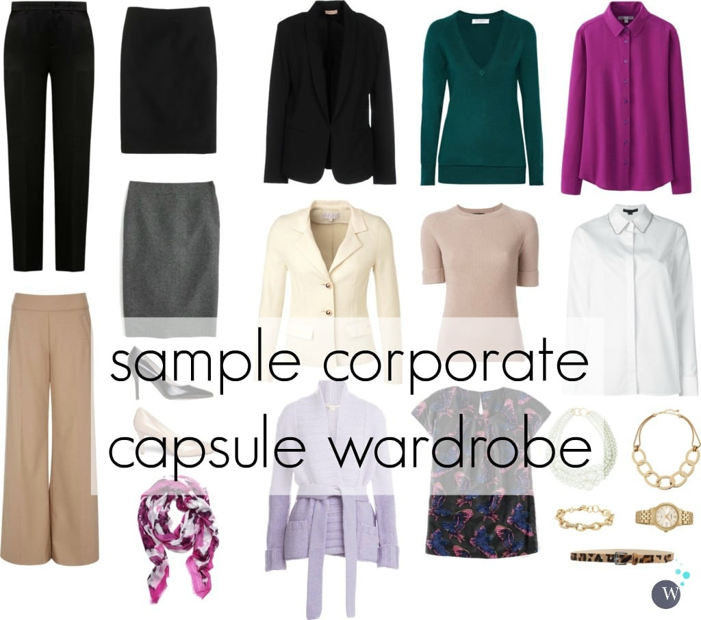 sample corporate capsule wardrobe - wardrobe oxygen