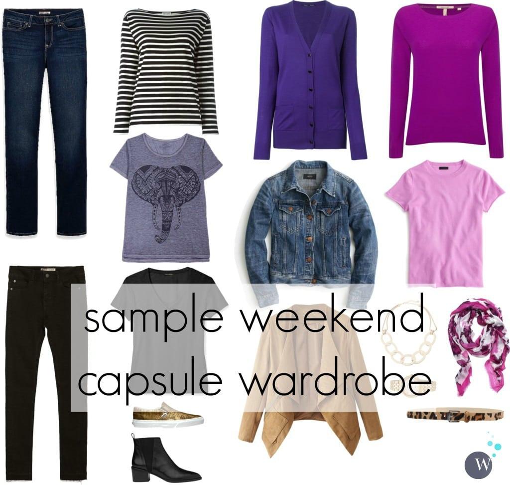 weekend capsule wardrobe - wardrobe oxygen