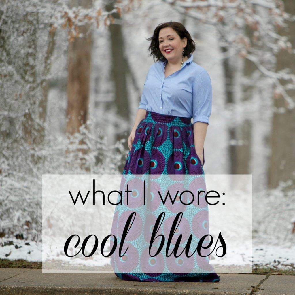 What I Wore: Cool Blues