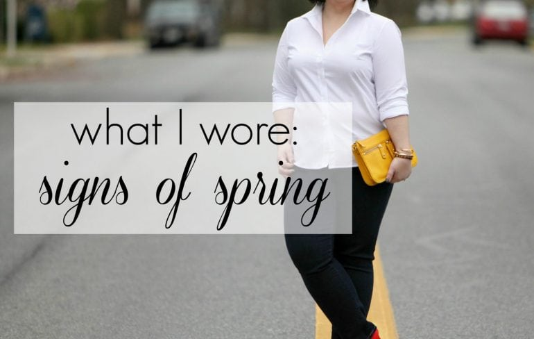 Wardrobe Oxygen - What I Wore Signs of Spring