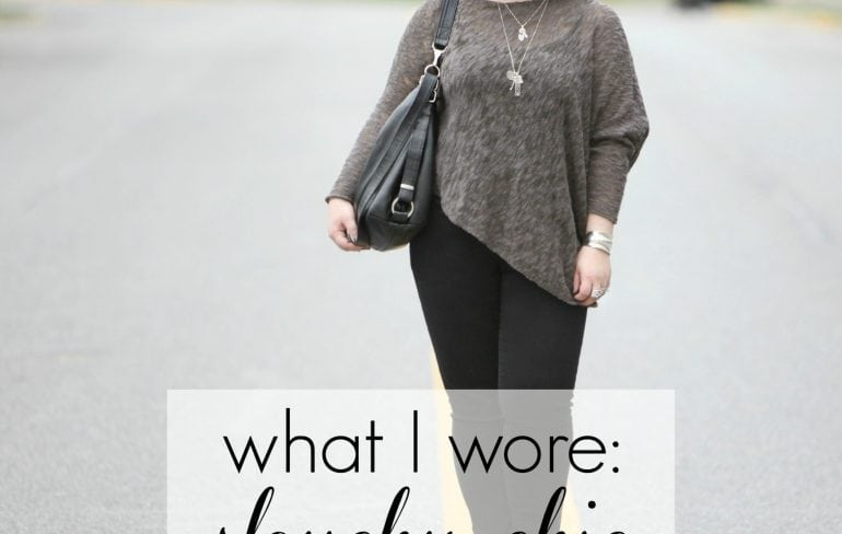 wardrobe oxygen what i wore - slouchy chic featuring stella carakasi and NYDJ
