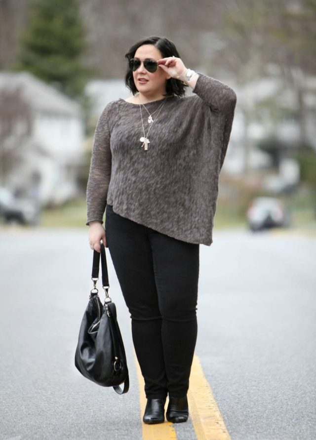 Wardrobe Oxygen featuring a Stella Carakasi sweater, NYDJ jeans, and a Rough & Tumble Bag