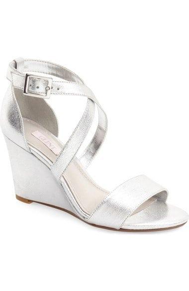 Glint Mallory Wedge Heel Sandal Silver