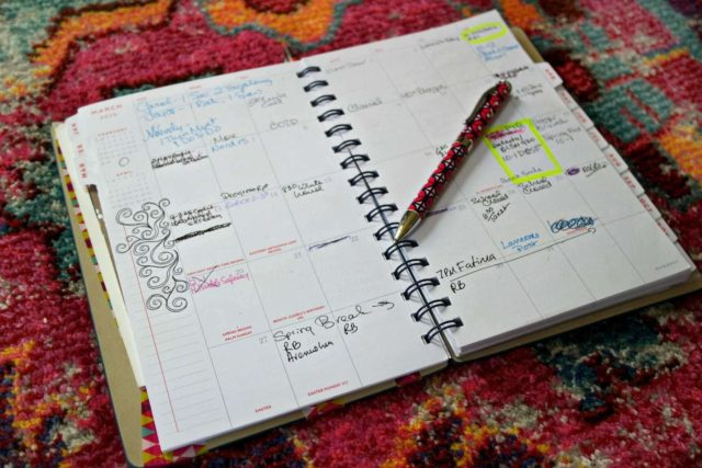 At-a-Glance planner for blogger organization