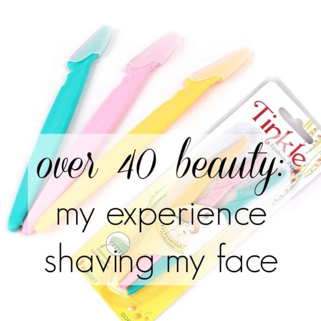 Shaving Face: My experience shaving my face with Tinkle razors. Discussions of over 40 beauty and dermaplaning by Wardrobe Oxygen