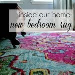 Inside Our Home: New Bedroom Rug