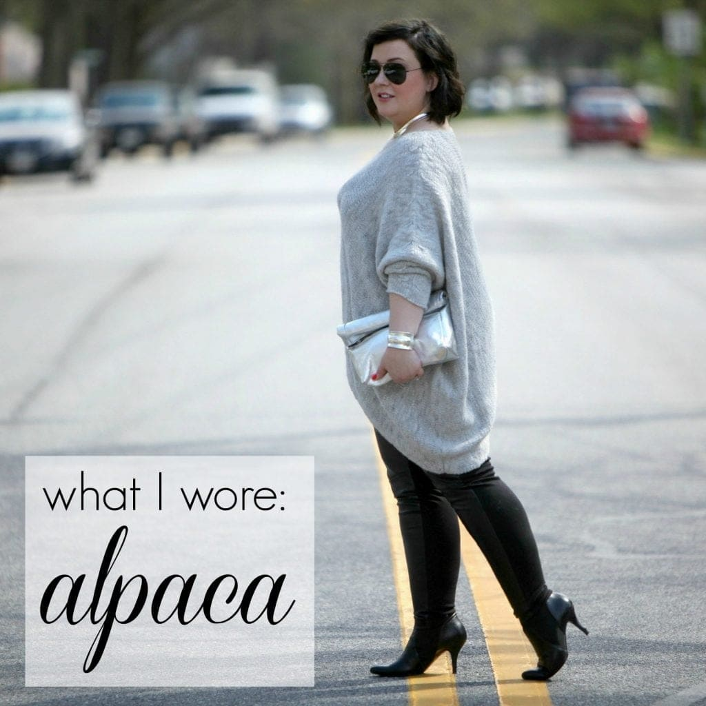 wardrobe oxygen over 40 fashion blogger wearing alpaca sweater What I Wore: Alpaca