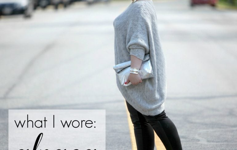 wardrobe oxygen over 40 fashion blogger wearing alpaca sweater