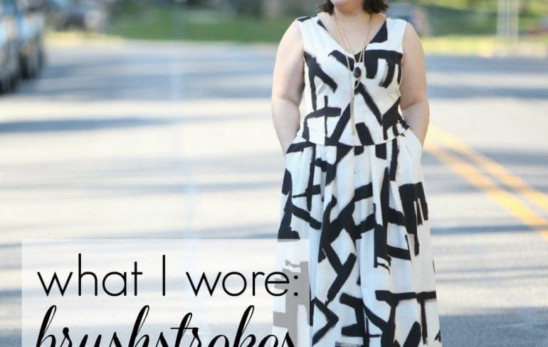 wardrobe oxygen what i wore brushstrokes