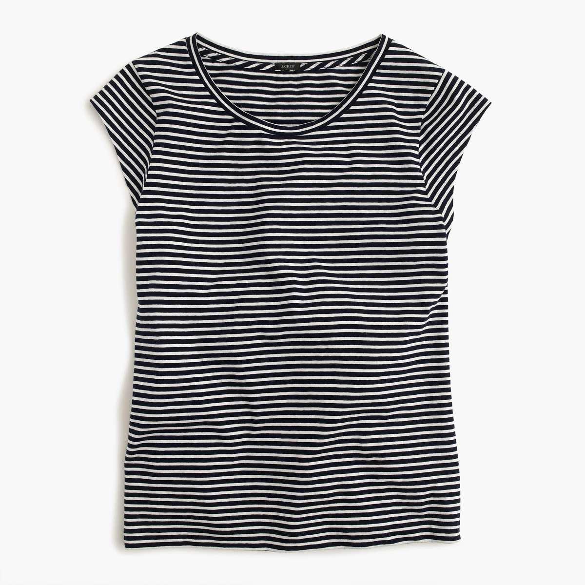J. Crew Ballet Cap Sleeve T-Shirt - Wardrobe Oxygen
