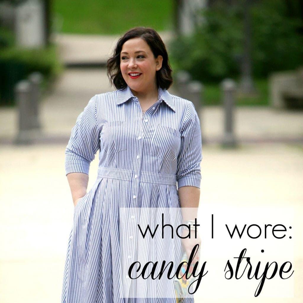 Wardrobe Oxygen What I Wore - Candy Stripe