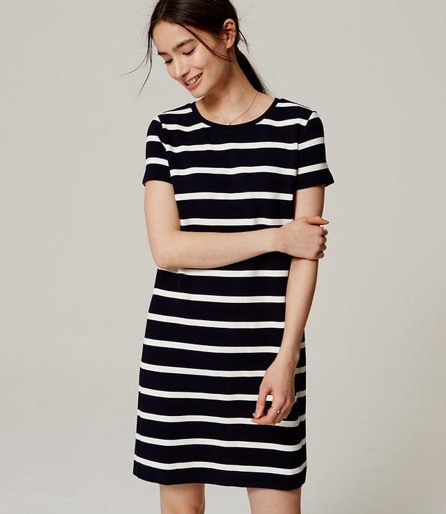 LOFT Striped Ottoman Tee Dress - Wardrobe Oxygen
