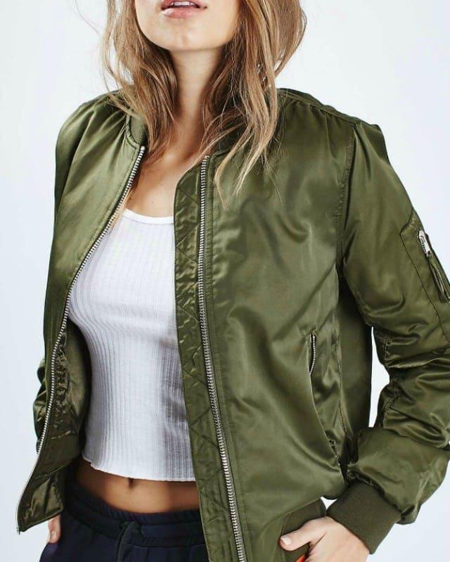 topshop bomber jacket - wardrobe oxygen