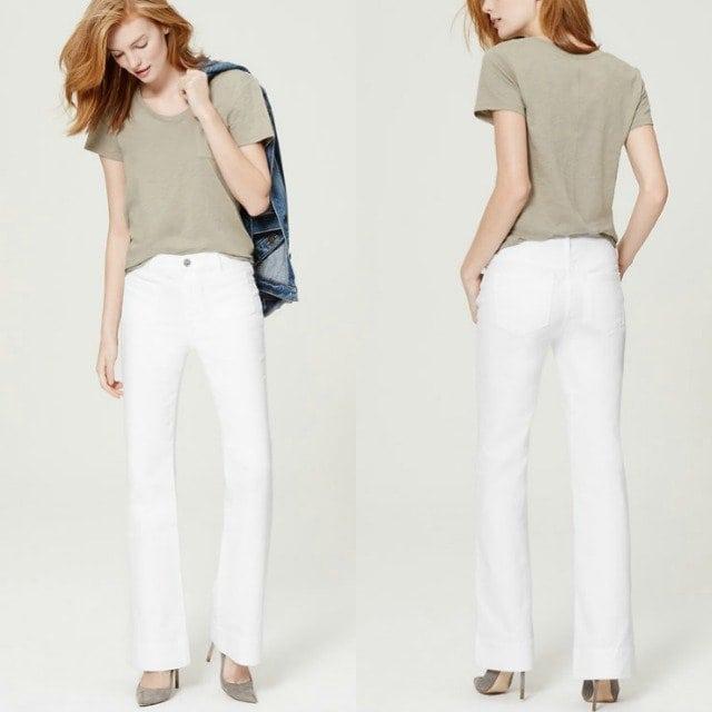wardrobe oxygen - loft white leg trouser jeans