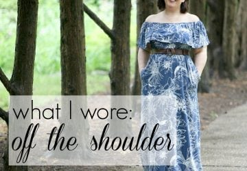 What I Wore: Off the Shoulder